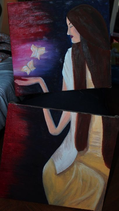Double painting girl - Bkri gallery