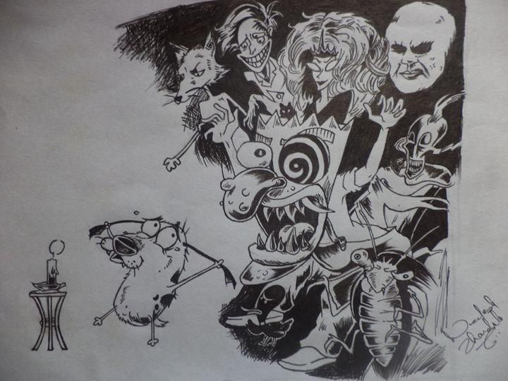coraje el perro cobardes - Anti-art illustrations †