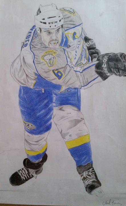 Shea Weber- Nashville Predators - Sportistry Professional Artwork