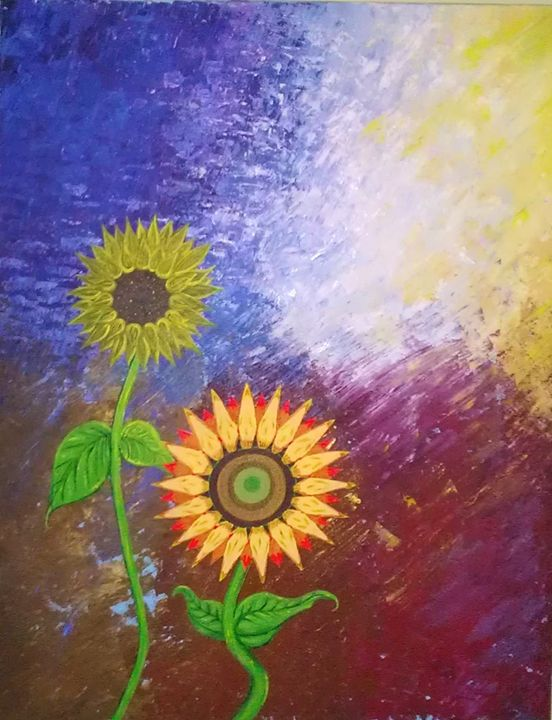""""""" Sunflowers """" - George Anthony Banos : The Avila Collection"""