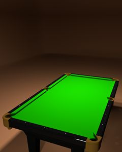 Pool Table Poster Blank