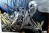 The artwork shows an evil dream.
