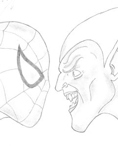 Spiderman and Green Goblin