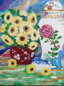 Sunflower and Porcelain