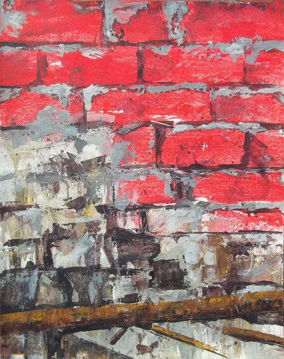 Red brick wall - FINE ART WINGS