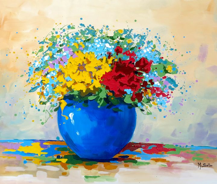 Flowers Colours and happiness Prints - Marilene Salles Fineart