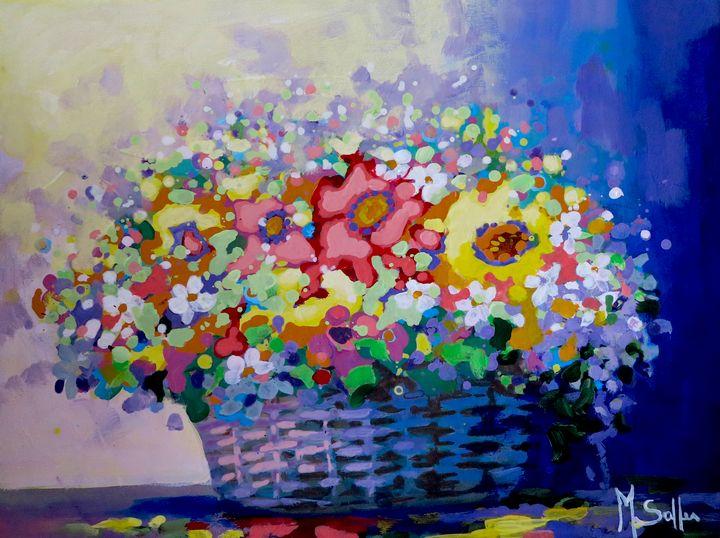 Flowers in the basket 2 - Marilene Salles Fineart