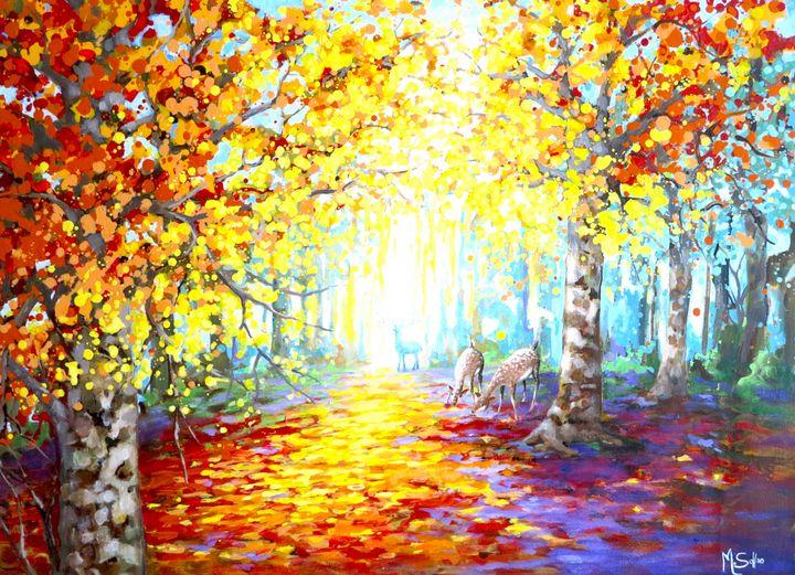 Golden forest - Marilene Salles Fineart