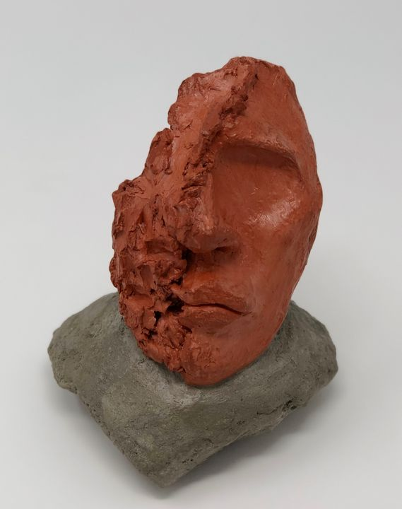 Self Portrait, Clay and Concrete - Painted Texture