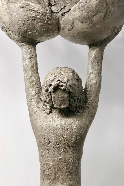 Strength, Concrete Sculpture - Painted Texture