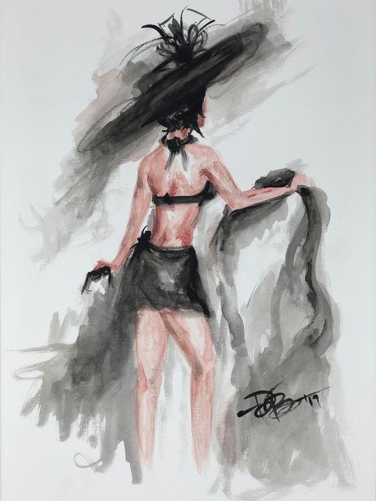 "Original Watercolor ""Summer"" - Painted Texture"