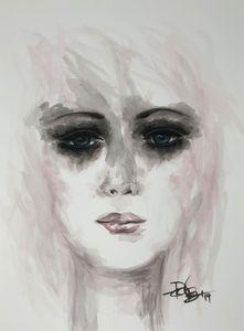 Stare - Watercolor on paper