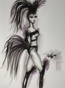 """Cabaret"" Original Watercolor"