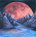 12x12in Blood Moon