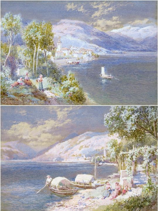 Lake Como and Lake Maggiore (Pair) - Guarisco Gallery