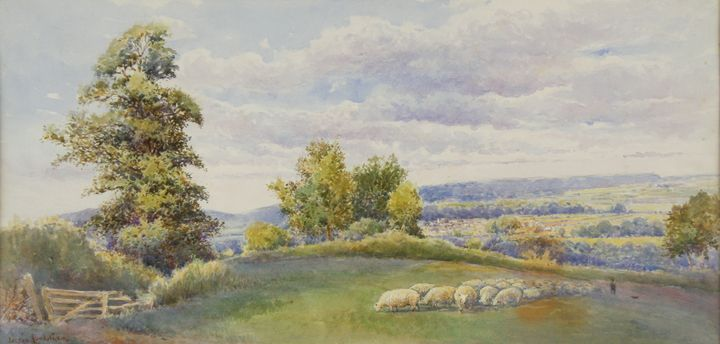 Sheep in an English Pasture - Guarisco Gallery