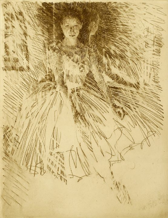Ballerina (etching)- charles mundy - Guarisco Gallery
