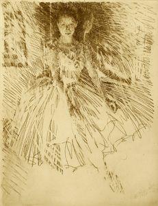 Ballerina (etching)- charles mundy