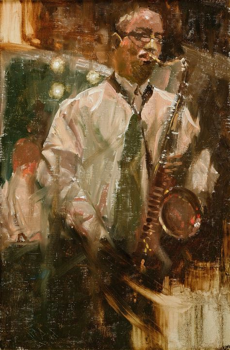 New Orleans Jazz Musician on Bourbon - Guarisco Gallery