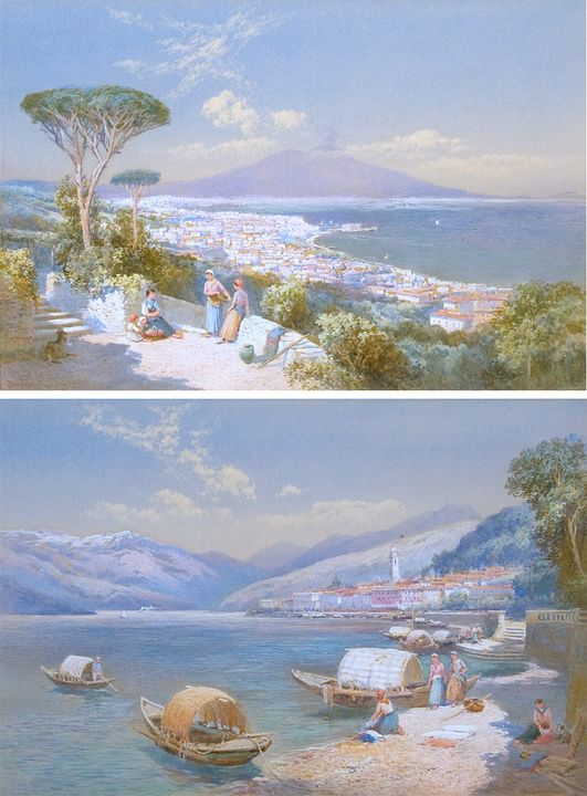 View of Bay of Naples; View of Bella - Guarisco Gallery
