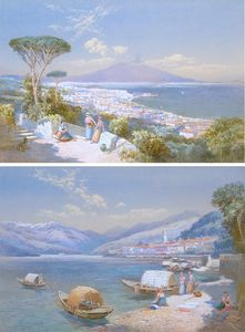 View of Bay of Naples; View of Bella