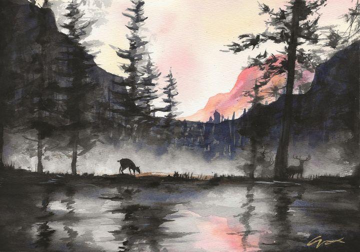 Foggy Pond - Gordon Cheung