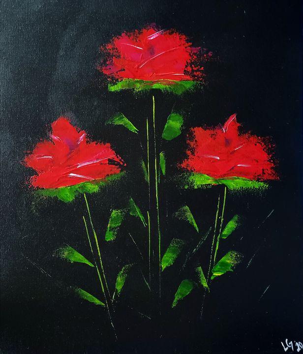 red flowers - Latoya Gomez