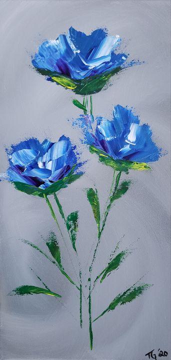 Sapphire blue pearl flower - Latoya Gomez