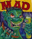 Original acrylic painting Mad magazi