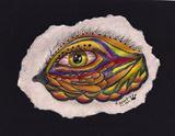 Original Golden Green eyed drawing