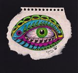 Original Green eye drawing
