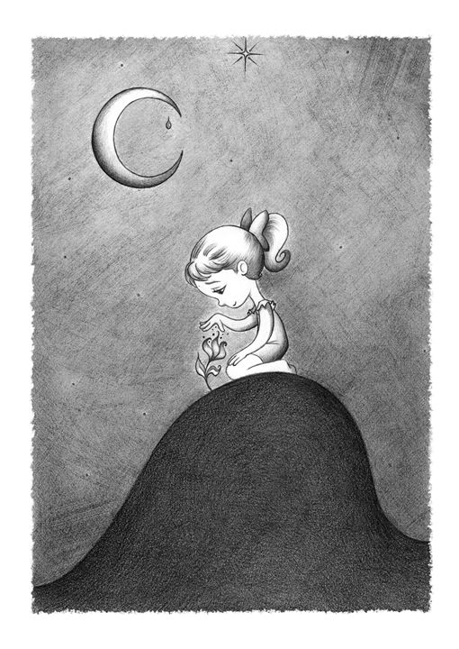 Lonely Girl - IZZIpics Art & Illustration
