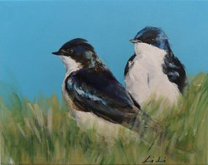 A pair of swallows