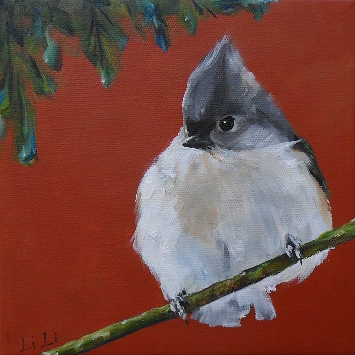 Titmouse bird no.3 - LiLiArtStudio