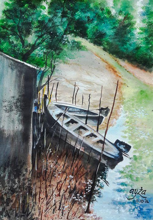 Boat and brooke - Zeespace