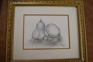 Pears lemon grapes