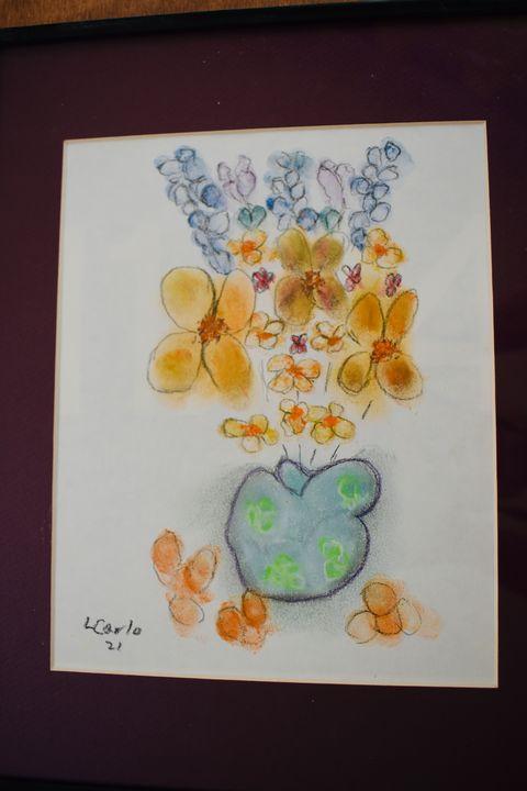 Vase and flowers - Maple street arts