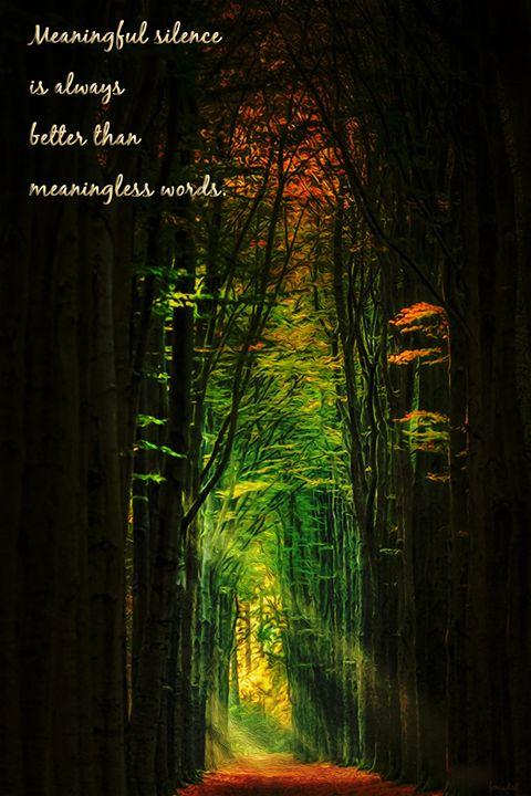 Meaningful Silence - Phoenix Art Works