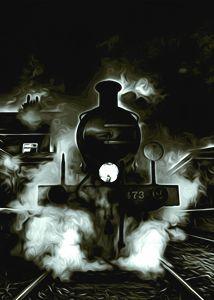 Steam Powered on a Winters Night - Phoenix Art Works