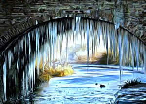 Winter on the River Walk - Phoenix Art Works