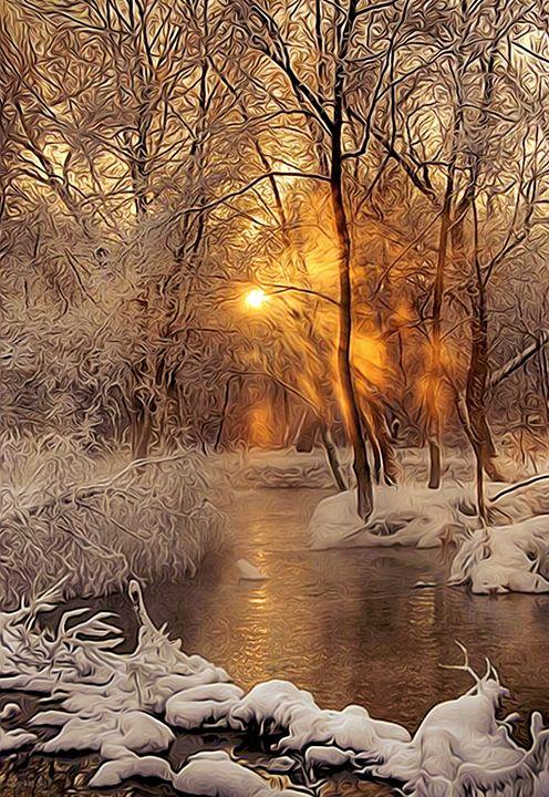 February Sunset at Salt Creek - Phoenix Art Works