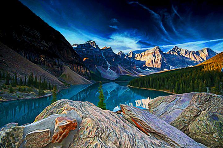 Spring Sunset on Moraine Lake - Phoenix Art Works