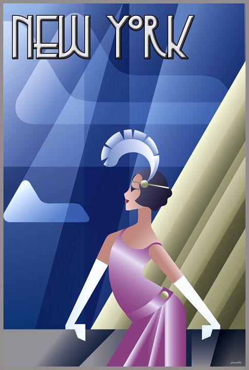 Roaring 20s Art Deco poster - Phoenix Art Works