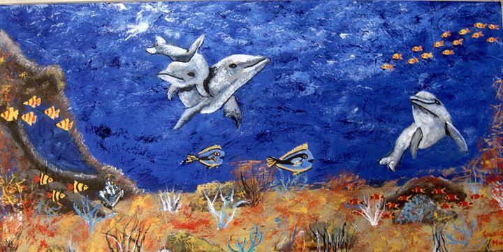 Dolphin Fun - Susie Mac Art