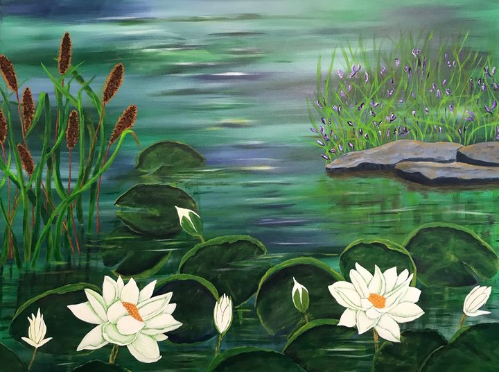 Waterlily Delight - Susie Mac Art