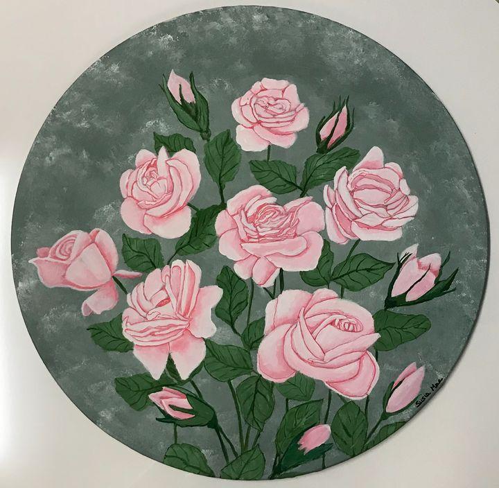CIRCLE OF ROSES. - Susie Mac Art