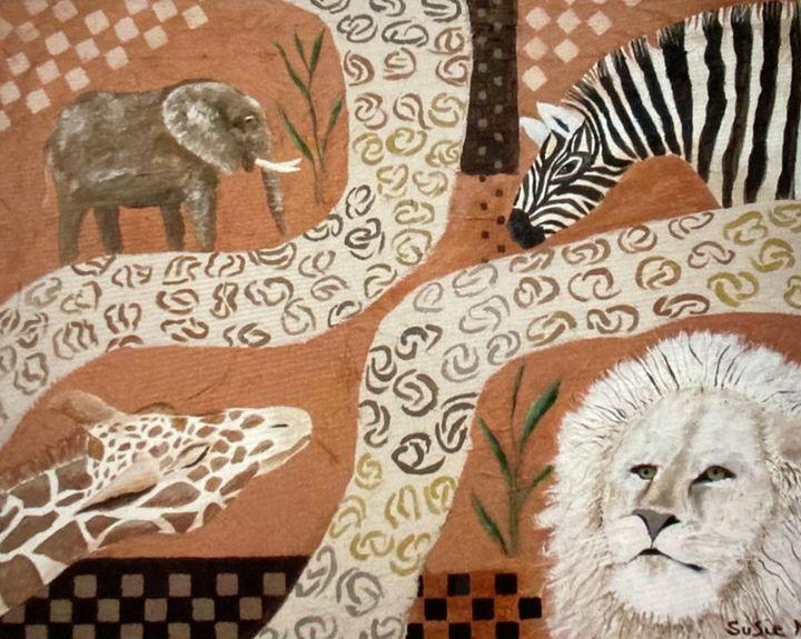 African Pathway - Susie Mac Art