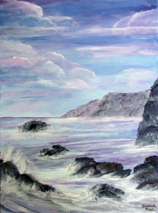 Purple sunrise - Susie Mac Art