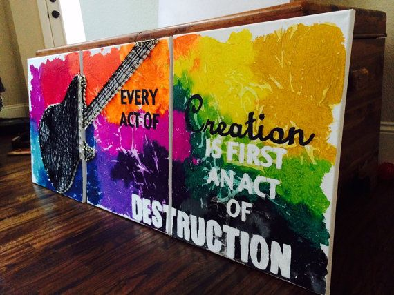 Abstract Oil, Thread and Crayon Art! - Rock Your Walls!