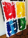 Beautiful 4 Piece Music Notes/WAX